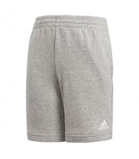 Pantalón corto adidas Essentials Logo CF6534 para niño en color gris, pantalón muy cómodo para el día a día o para ir a entrenar, encuéntralo en chemasport.es
