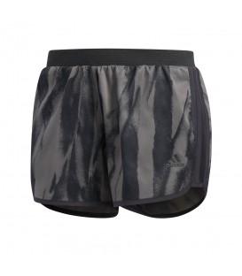 Pantalón corto adidas M10 CF2171 para mujer en color gris y negro, shorts para running en chemasport.es