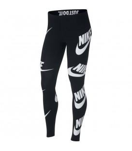 Malla para mujer Nike Sportswear de color negro con logotipo serigrafiado por toda la pierna. Ref: 883655-010
