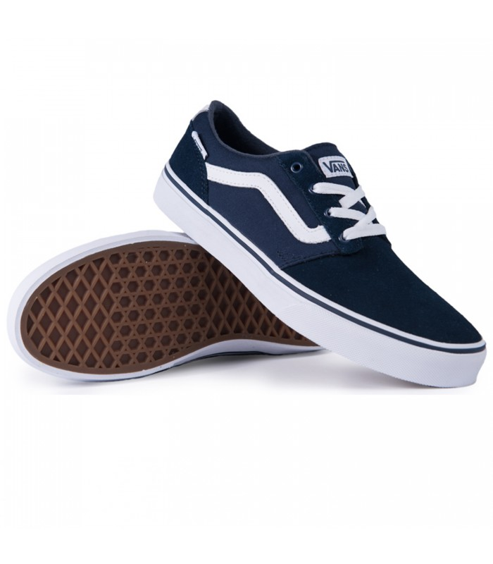 zapatillas vans chapman stripe en color azul. Black Bedroom Furniture Sets. Home Design Ideas