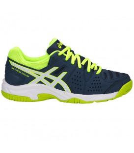 Zapatillas de padel para mujer y niños asics gel padel pro 3GS de color azul al mejor precio en chemasport.es