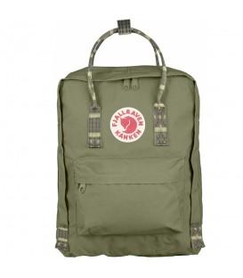 Mochila FjallRaven Kanken Classic Green-Folk Pattern 23510-620-913, mochila resistente y duradera, más colores disponibles en chemasport.es
