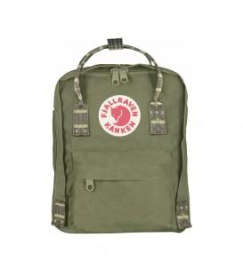 Mini Mochila FjallRaven Kanken Green-Folk Pattern 23561-620-913, las mochilas Kanken destacan por su gran calidad, encuentra tu color en chemasport.es