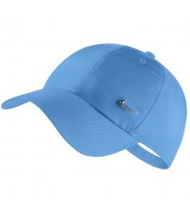 Gorra unisex Nike H86 943092-412 de color azul, gorra confeccionada en sarga de algodón con cierre ajustable, más colores en chemasport.es