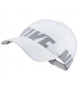 Gorra Nike Heritage 86 890076-100 en color blanco, gorra para mujer confeccionada en algodón y con cierre ajustable, otros modelos en chemasport.es