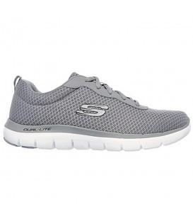 Zapatillas de caminar para hombre Skechers flex advantage 2.0 52125-GRY de color gris al mejor precio. Otros modelos de Skechers al mejor precio en chemasport