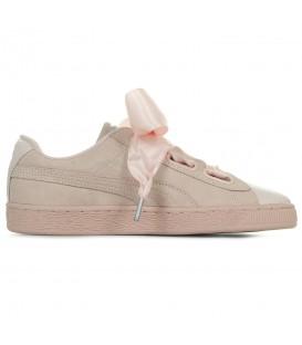 Zapatillas para mujer Puma Suede Heart Bubble 366441-02 de color rosa con cordones de lazo al mejor precio en Chema Sneakers Pontevedra