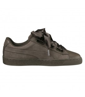 ZAPATILLAS PUMA SUEDE HEART BUBBLE 366441-03 KAKI