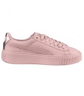 Zapatillas para mujer Puma Basket Platform Euphoria RG 366814-03 de color rosa al mejor precio y gastos de envío gratis en Chema Sneakers.