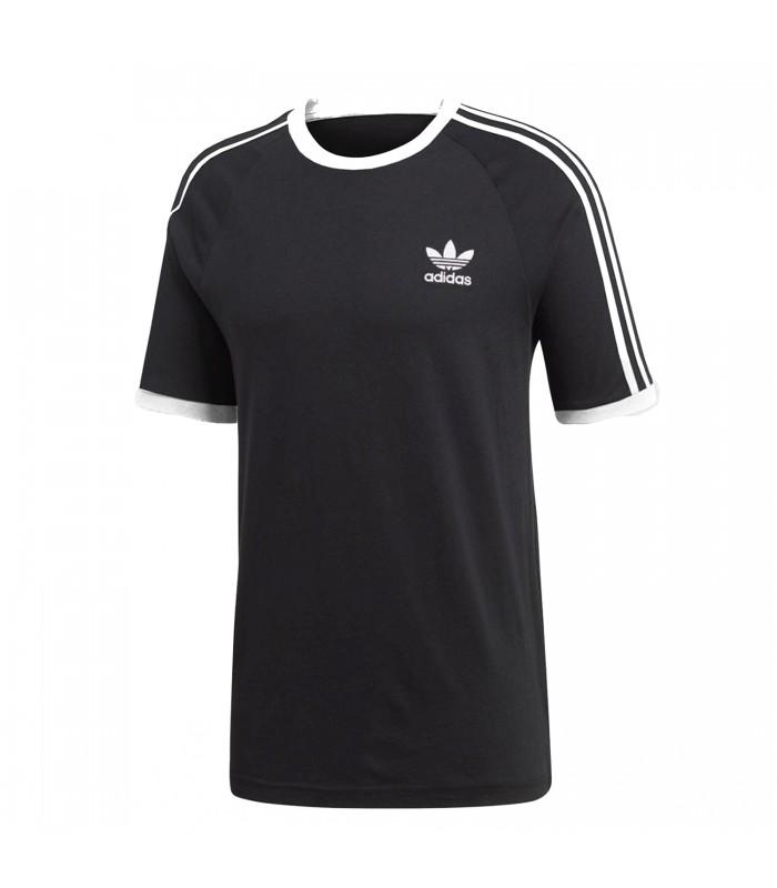 adidas 3stripes tee camiseta mujer negro
