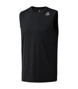 Camiseta sin mangas Reebok Wor Activchill CE0665 para hombre en color negro, camiseta para entrenamientos intensos con tecnología Speedwick.