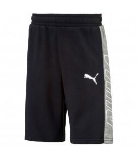 Pantalón corto para niños Puma Style Bermudas gris/azul. Compra ahora pantalones cortos de algodón para niños al mejor precio. Ref: 850189-01