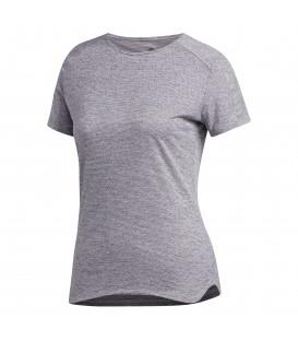 Camiseta de running adidas Response Cooler de color rosa. Camiseta de manga corta para mujer con detalles reflectantes. Ref: CF2138