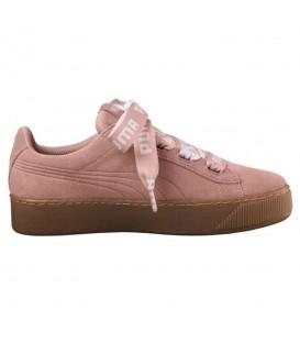 Zapatillas para mujer Puma con lazo Vikky Platform bold de color rosa confeccionadas en ante de primera calidad al mejor precio en chemasport.es