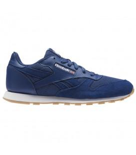 Zapatillas para mujer y niños Reebok Classic Leather ESTL CN1139 de color azul al mejor precio en chemasport.es