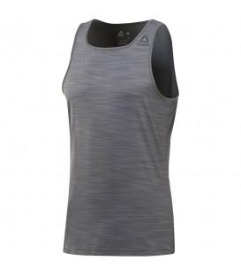 Camiseta Reebok Running Activchil CV6439 para hombre en color gris, camiseta de running con tecnología Activchill y Speedwick para un máximo confort.