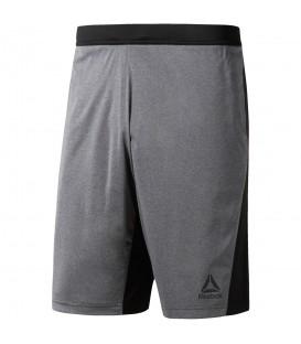 Pantalón corto Reebok Speedwick CF2964 para hombre en color gris y negro, pantalón de entrenamiento ligero a buen precio, encuéntralo en chemasport.es