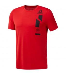 Camiseta Reebok Workout Activchill CE0673 para hombre en color rojo, camsieta de entrenamiento con tecnología Speedwick que dispersa la humedad.