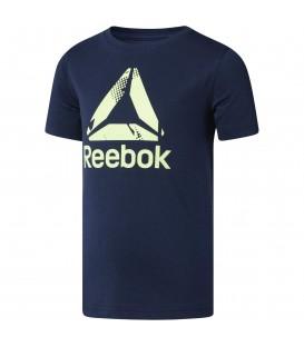Camiseta para niño de manga corta Reebok Boys Logo de color azul con logotipo estampado en el pecho. Color azul. Ref: CF4264 Disponible en más colores.
