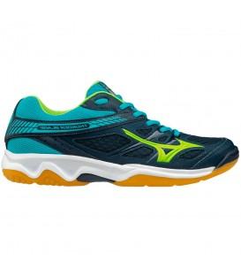 Zapatillas de volley para hombre Mizuno Thunder Blade V1GA177092 de color azul al mejor precio con gastos de envío gratis en chemasport.es