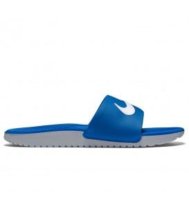Chanclas de natación y piscina Nike Kawa GS Slide 819352-400 para mujer y niños de color azul marino al mejor precio en chemasport.es