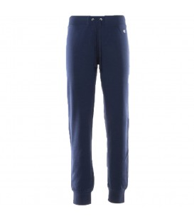 Pantalón Champion Rib Cuff 110144-BS503 para mujer en color azul marino, pantalón cómodo de algodón ajustado con bolsillos laterales y cintura ajustable