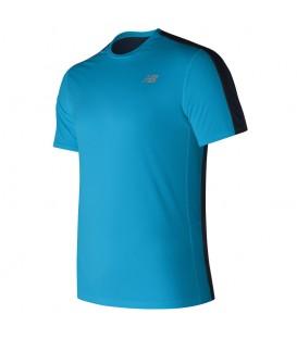 Camiseta New Balance Accelerate para hombre de color azul. Ref: MT73061MLE. Perfecta para hombre.