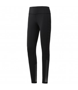 Leggings femeninos Reebok Mesh Tight de color negro. Mallas deportivas con apliques de malla en parte inferior para mayor refrigeración. Ref: CD7676