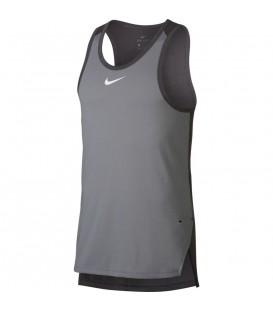 Camiseta de baloncesto Nike Breathe Elite para hombre en color gris. ¿Juegas al baloncesto? Consigue en nuestra web tu equipación al mejor precio.