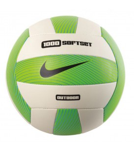 Balón Nike 1000 Softset Outdoor N.VO.05.932.NS en blanco y verde, balón de volleyball de buena consistencia y gran durabilidad, disponible en chemasport.es