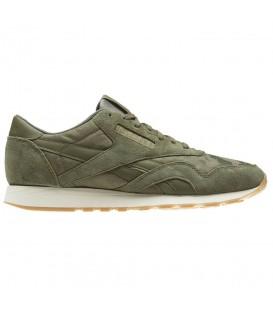 Zapatillas para hombre Reebok Classic Nylon SG BS9567 de color verde al mejor precio en tu tienda de sneakers online Chema Sneakers.