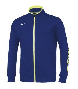 Chaqueta Mizuno Sweat FZ para hombre de color azul confeccionada en algodón. Disponible en más colores. Cambio de talla gratuito.