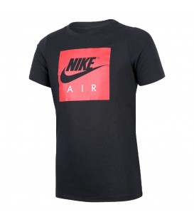 Camiseta Nike Air Logo 894300-010 para niños en color negro, camiseta de algodón para niños de tejido suave y cómod, más modelos en chemasport.es