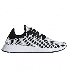 Zapatillas para hombre adidas deerupt runner CQ2626 de color blanco y negro. Otros modelos de deportivas adidas al mejor precio en Chema Sneakers.