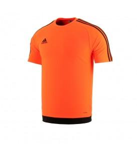 Camiseta adidas Estro 15 S16164 para niños en color naranja, camiseta de fútbol para niños que ayuda a la expulsión del sudor gracias a su tejido con Climalite.