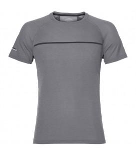 Camiseta Asiscs SS Top para hombre de color gris pensada para la práctica de running. Camiseta técnica con tecnología MotionDry. Ref: 154582-0773