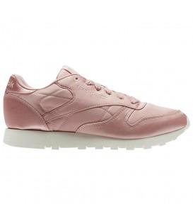 Zapatillas para mujer Reebok Classic Leather Satin CM9800 de color rosa al mejor precio en tu tienda de sneakers en Pontevedra Chema Sneakers