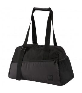 Bolso Reebok Enhanced Lead & Go Active CD7316 en color negro, bolso para el gimnasio o para pequeños viajes, con diferentes bolsillos para mejor organización.