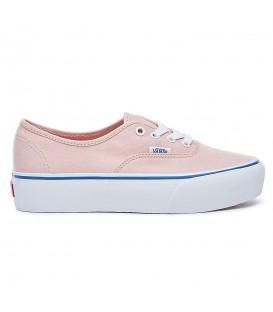Zapatillas con plataforma Vans Authentic Platform 2.0 de color rosa para mujer al mejor precio en tu tienda de sneakers chemasport.es