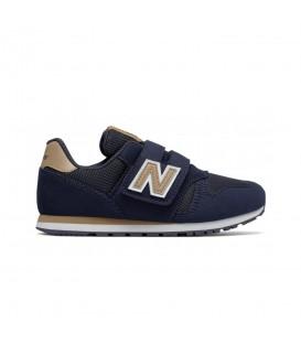 Zapatillas para niños con cierre de velcro New Balance KV373 Y de color azul marino al mejor precio en chemasport.es