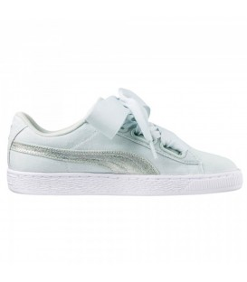ZAPATILLAS PUMA BASKET HEART CANVAS 36649503 AZUL