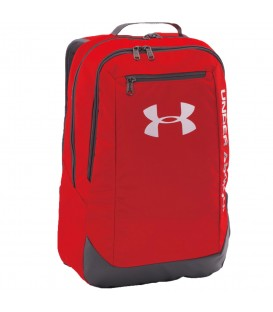 "Mochila Under Armour LDWR 1273274-600 en color rojo, mochila impermeable con bolsillo interior para portátiles hasta 15"", con asas acolchadas para mayor confort"