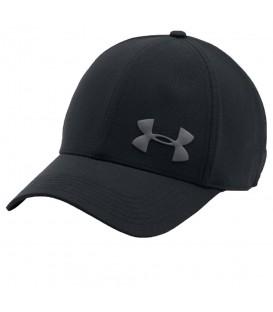 Gorra Under ArmourVent 1291857-001 en color negro, gorra de visera curvada con tejido ligero y transpirable. Más gorras de las mejores marcas en chemasport.es