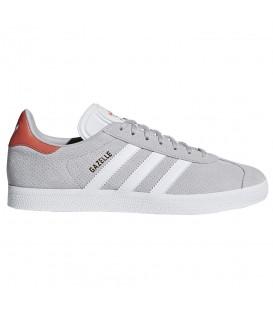 Zapatillas para mujer adidas gazelle CQ2805 de color gris y cierre con cordones al mejor precio en tu tienda de sneakers chemasport.es