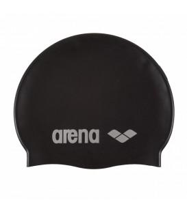 Gorro de piscina Arena Silicone 91662-055 en color negro, gorro de natación para entrenamientos regulares, encuentra más colores en chemasport.es a buen precio.