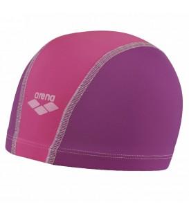 Gorro de piscina Arena Unix 91279 026 para niños en color morado y rosa, gorro de natación de ajuste ergonómico muy cómodo y fácil de poner.