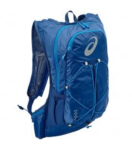 Mochila Asics Lightweight 131847-0844 en color azul, mochila ligera de running con compartimento para bolsa de hidratación y sistema de sujección.