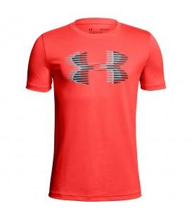 Camiseta para niño de manga corta Under Armour Tech™ Big Logo Solid de color naranja. Envíos nacionales y a península. Ref: 1306073-985