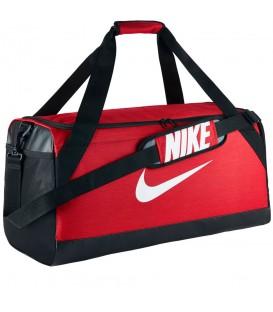 Bolso Nike Brasilia en color rojo y negro BA5334-657, bolsa con capacidad de 61L, perfecta para el gimansio o incluso pequeñas escapadas o viajes.