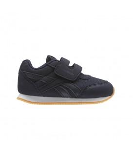 Zapatillas para niños con cierre de velcro Reebok Royal Classic Jogger CN1348 de color azul marino. Otros modelos de Reebok en chemasport.es